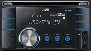 JVC KW XR411 Double Din CD Radio with MP3 Connectivity @ Halfords 79.90 From 279.99 Free Collect From Store