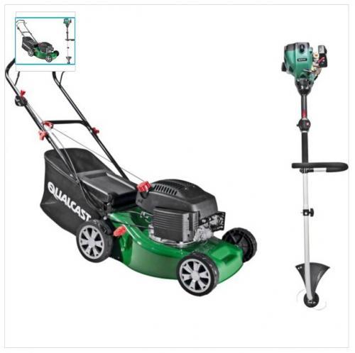 Qualcast 41cm Petrol Push Lawnmower - 149cc & Grass Trimmer. £199.99 at Argos (was £299.99)