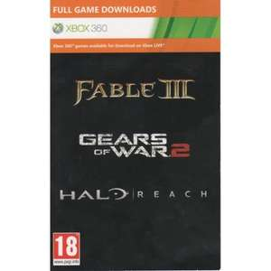 Halo Reach + Gears Of War 2 + Fable 3 (Download Full Game Code) £13.99 @365