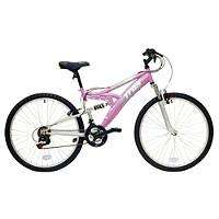 "Halfords - Trax Ladies Full Suspension Mountain Bike 16"" Frame £81"