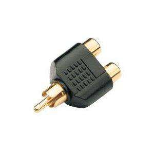 GOLD 1 to 2 RCA PHONO AV AUDIO VIDEO Y SPLITTER Delivered @ 60p @ Amazon sold by IS Electronics