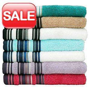 Hand Towel - Stripe White Blue 50 x 90 cm £1 each - instore and online @ Asda