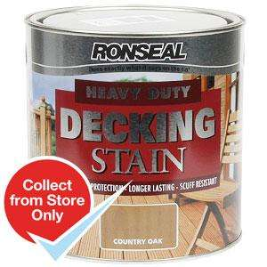 Ronseal Heavy Duty Decking Stain: Country Oak 2.5 Litres only £8.99 @ Home Bargains