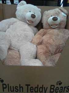 "53"" Giant plush teddy bears for £21 INSTORE at Costco avail Nationwide RRP £60"