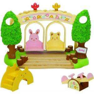 Sylvanian Families Nursery Playground Swing Set (swinging and rocking see Saw, Swing and Climbing Frame) - £7.24 @ Amazon