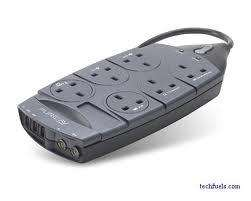 6 way Belkin Surge Protector with phone and aerial outputs - £7 instore @ Homebase