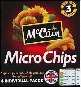 McCain Micro Chips (4 x 100g) £1.00 @ Asda