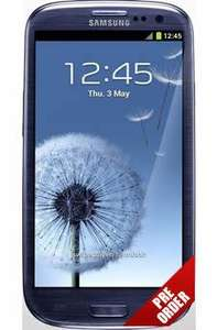 Pre-order Samsung Galaxy S3 Free, Unlimited Texts and internet + 300 mins £32.58 Pm @ Into Mobile Phones