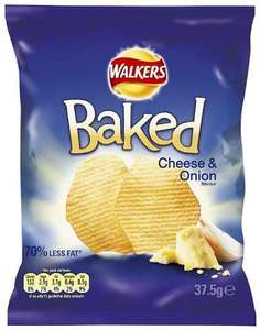 Walkers Baked Crisps - box of 32 - £8 delivered @ Amazon!!