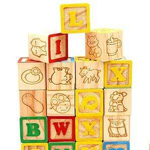 ASDA Play & Learn 26 Piece Wooden Blocks £3