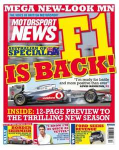 Copy of Motorsport News for price of an 0845 phonecall