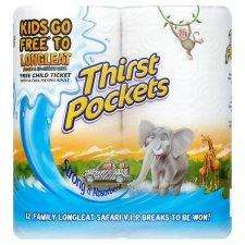 Thirstpockets Kitchen Towel White 2 Roll @ Poundland