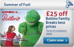 £25 off Butlin's Holidays and free sample of toothpaste when you sign up to the AquaFresh Club