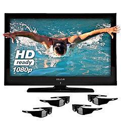 "Celcus 42"" Full HD 1080p 3D LCD TV plus 4 Pairs of 3D Glasses £329.99 @ Sainsburys"