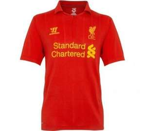 Brand new Liverpool 2012-2013 Home shirt comes with a free t-shirt worth £20 , only £49 includes postage and packaging