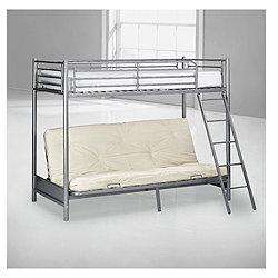 Mika High Sleeper Bed Frame with Single Futon, Silver £120 (using code) @ Tesco Direct