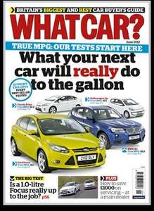 WHAT CAR? Magazine Subscription - 3 issues for £1 save 93% @W H Smith