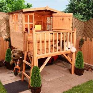 Mad Dash Bunny Tower Wooden Playhouse Including Floor £199.49 @ outdoor toys direct