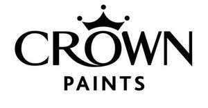 Crown Paint. 5 litres for price of 2.5l at Homebase for £18.99