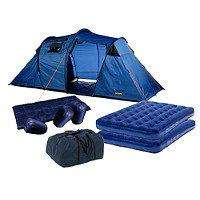 Halfords Family 4 Man Tent PACK (LOTS OF EXTRAS) £80.99 @ Halfords