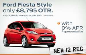 New Ford Fiesta Style £8795 OTR or pay £4397.50 now and £4397.50 in 13 months (0% APR) @ Hendy's Group