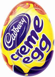 Cadburys creme eggs 10p each a home bargains :D