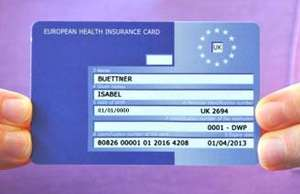Free EHIC card on the NHS