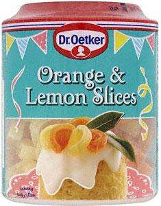 Dr Oetker Orange and Lemon slices 85g cake toppers 39p @ b&m bargains aug 2012