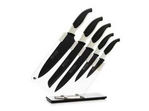 Knife & block set by maxwell and williams £20 @ Dobbies Garden Centre