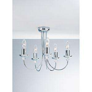 Chrome / Silver 5 Arm Chandelier Ceiling Light Fitting half price now £15 del to store @ Asda
