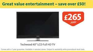 "Techwood 40"" LCD Full HD TV £265 - Morrisons Instore"