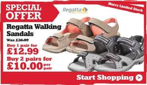 Regatta Sandals - 2 For £10 a pair @ Outdoor look