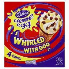 Cadbury Creme Egg Cones 4 pack down to £1 @ TESCO