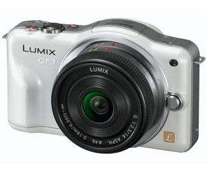 Panasonic Lumix DMC-GF3 12.1MP White Camera Kit with 14mm Lumix G f/2.5 Lens - £195.00 (after £50 cashback) @ Bristol Cameras