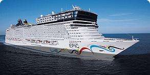 Holiday Cruise Norwegian Epic Western Mediterranean 7days include Flights to Barcelona