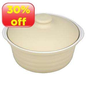 ASDA Stepped Cream Casserole Dish with Lid - 2.4L - £5.60