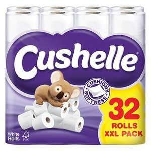 Cushelle 32 pack toilet roll (24 + 8 free!) £10 @ Asda