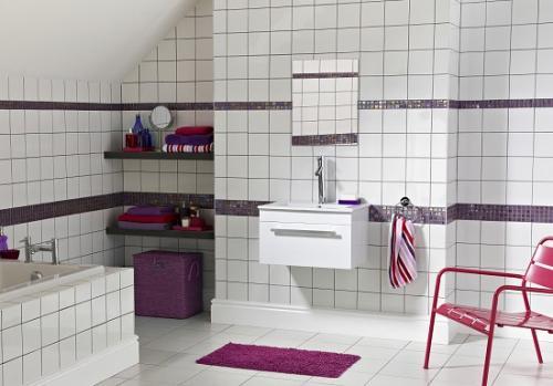 Glossy White Ceramic Tiles - 10p each (£4.44 per sq metre) @ Topps