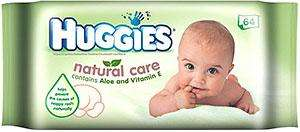 Huggies Baby Wipes Natural Aloe Care (64) 3 for the price of 1 Price £2.59 @ Sainsburys