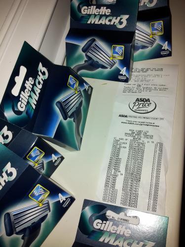 Gillette Mach3 Razors 4 pack £1.00 @ ASDA instore and online