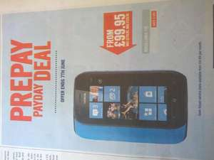 Nokia Lumia 710 £99.95 (plus £10 top up?) @ carphone warehouse