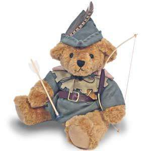 Hand Made Collectable Robin Hood Bear £7.99  + £3.99 del at Readers Digest ( free del on £20+ spend )