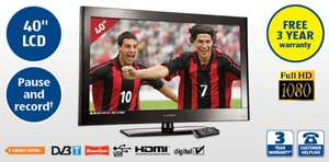 "e-Motion 40"" Freeview FULL HD 1080P TV, USB PVR, 3xHDMI + 3 Yr Warranty! only £259.99 @ ALDI 7th June"