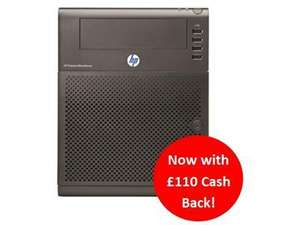 HP MicroServer ProLiant N40L £239.98 - £119.99 with £110 cashback + £10 code + TCB / Quidco@Dabs