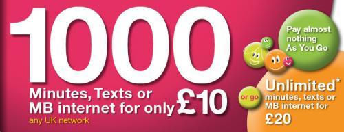 Delight Mobile 1000 mins for £10