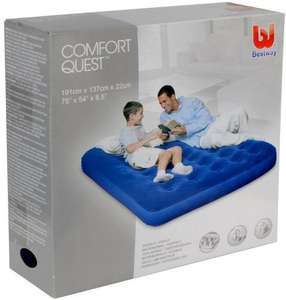 BESTWAY Comfort Quest Flocked Double Size Air Bed only £9.99 @ B&M