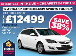 Astra 1.7 Diesel Sports Tourer £12499 @ Peter Vardy