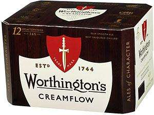 12 440ml cans of Worthington Creamflow for £5.99 @ B&M