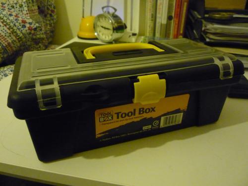 TOOLBOX plastic tool storage £1 @ Poundland