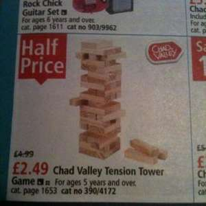 chad valley tension tower ( jenga) for £2.49 @ Argos Extra